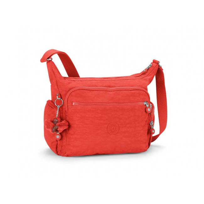 cbcff5789d Τσάντα ώμου κόκκινη γυναικεία Kipling Basic Gabbie Large Shoulder Bag Happy  Red