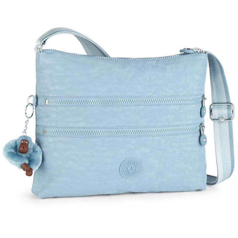 2570a33466 Τσάντα ώμου σιέλ Kipling Basic Alvar Shoulder Bag Pastel Blue C