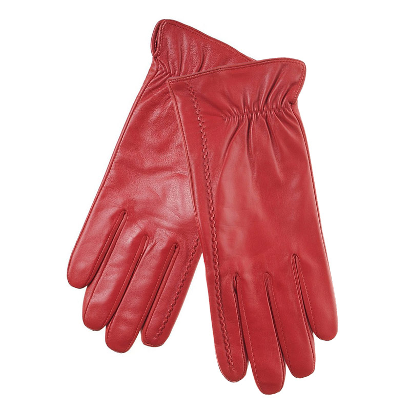 7e630526a8 Γάντια γυναικεία δερμάτινα κόκκινα Guy Laroche 68862