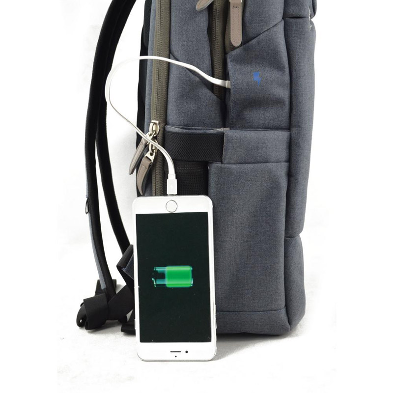bb158578ae3 Σακίδιο πλάτης επαγγελματικό ανδρικό γκρι Swissdigital Surge 701 Business  Backpack
