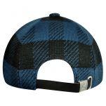 Καπέλο τζόκεϊ καρό Kangol Frontier Spacecap, μπλε, πίσω όψη