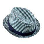 Καπέλο καβουράκι ψάθινο καλοκαιρινό με δερμάτινο λουράκι