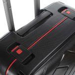 Βαλίτσα σκληρή μαύρη με 4 ρόδες μεσαία  Dielle PPL8  65 cm, επάνω όψη
