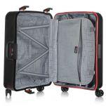 Βαλίτσα σκληρή μαύρη με 4 ρόδες μεσαία  Dielle PPL8  65 cm, εσωτερικό