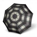Ομπρέλα σπαστή, αυτόματο άνοιγμα - κλείσιμο γκρι - μαύρο καρό Knirps T.200 Duomatic Check