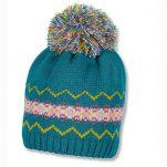 Καπέλο σκούφος πλεκτός χειμερινός πετρόλ με πομ - πον Sterntaler Knitted Hat