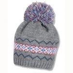 Καπέλο σκούφος πλεκτός χειμερινός γκρι με πομ - πον Sterntaler Knitted Hat