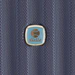 Βαλίτσα σκληρή μικρή μπλε με 4 ρόδες Dielle 05N, λεπτομέρεια, μπροστινή όψη