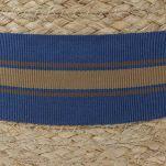 Καπέλο ψάθινο με ριγέ γκρό κορδέλα Stetson Trilby Mandalo Raffia, λεπτομέρεια, κορδέλα