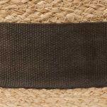 Καπέλο ψάθινο με καφέ γκρό κορδέλα Stetson Traveller Merriam Raffia, λεπτομέρεια, κορδέλα