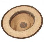 Καπέλο ψάθινο με καφέ γκρό κορδέλα Stetson Traveller Merriam Raffia, εσωτερικό