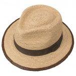 Καπέλο ψάθινο με καφέ γκρό κορδέλα Stetson Traveller Merriam Raffia, πάνω όψη