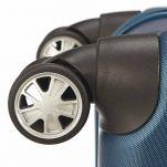 Βαλίτσα σκληρή μπλε με 4 ρόδες μεγάλη Roncato Kinetic Blu Grande, λεπτομέρεια τροχός