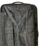 Βαλίτσα σκληρή μεσαία γκρι με 4 ρόδες Dielle 110M, λεπτομέρεια, εσωτερικό, δεξί τμήμα