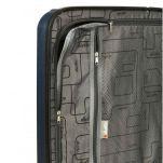 Βαλίτσα σκληρή μεσαία μπλε με 4 ρόδες Dielle 110M, λεπτομέρεια, εσωτερικό, αριστερό τμήμα
