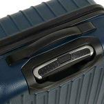 Βαλίτσα σκληρή μεσαία μπλε με 4 ρόδες Dielle 110M, λεπτομέρεια, πάνω όψη, λαβή