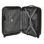 Βαλίτσα σκληρή μικρή γκρι με 4 ρόδες επεκτάσιμη  Dielle 110S, εσωτερικό
