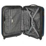 Βαλίτσα σκληρή μικρή μπλε με 4 ρόδες επεκτάσιμη  Dielle 110S, εσωτερικό
