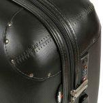 Βαλίτσα σκληρή μικρή μαύρη με 4 ρόδες Dielle 155S, λεπτομέρεια
