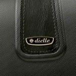 Βαλίτσα σκληρή μικρή μαύρη με 4 ρόδες Dielle 155, λεπτομέρεια, μπροστινή όψη