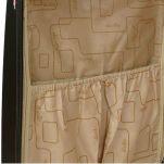 Βαλίτσα σκληρή μικρή μαύρη με 4 ρόδες Dielle 155, λεπτομέρεια, εσωτερικό, αριστερό τμήμα