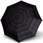 Ομπρέλα σπαστή αυτόματο άνοιγμα - κλείσιμο μαύρο καρό Knirps T.200 Duomatic Check