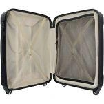 Βαλίτσα σκληρή μικρή μαύρη με 4 ρόδες Delsey Eckla Black, εσωτερικό