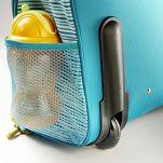Βαλίτσα παιδική υφασμάτινη Arnold ο πειρατής ιπποπόταμος  Lilliputiens Arnold Trolley, λεπτομέρεια, τροχός και δεξιά πλαϊνή τσέπη