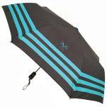 Ομπρέλα γυναικεία σπαστή αυτόματη με ρίγες Vercase