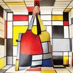 Τσάντα αγορών Loqi Piet Mondrian Composition Red Yellow Blue And Black, 1921 Bag