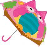 Ομπρέλα παιδική τρισδιάστατη κουκουβάγια Stephen Joseph Pop Up Umbrella Owl