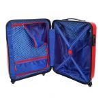 Βαλίτσα σκληρή καμπίνας κόκκινη με 4 ρόδες Travelite Uptown S Red, εσωτερικό