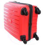 Βαλίτσα σκληρή καμπίνας κόκκινη με 4 ρόδες Travelite Uptown S Red, κάτω όψη