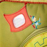 Σακίδιο πλάτης - τσάντα παιδική με τον Walter τον δράκο Lilliputiens Walter Small Schoolbag, λεπτομέρεια, ετικέτα ονόματος