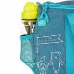 Τσάντα ταξιδιού παιδική σιέλ Lässig Mini Sportsbag About Friends, λεπτομέρεια, πλάγια εξωτερική τσέπη