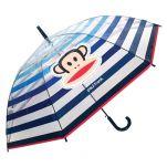 Ομπρέλα μεγάλη αυτόματη αντιανεμική διάφανη ριγέ Paul Frank AutomaticTransparent Umbrella