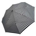 Ομπρέλα γυναικεία ασπρόμαυρη σπαστή χειροκίνητη Guy Laroche Folding Umbrella 8340, ζέβρα