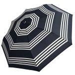 Ομπρέλα γυναικεία ασπρόμαυρη σπαστή χειροκίνητη Guy Laroche Folding Umbrella 8340, ριγέ