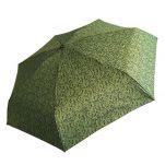 Ομπρέλα γυναικεία mini σπαστή εμπριμέ Guy Laroche Folding Umbrella 8365, πράσινη
