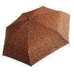 Ομπρέλα γυναικεία mini σπαστή εμπριμέ Guy Laroche Folding Umbrella 8365, καμηλό