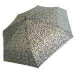 Ομπρέλα γυναικεία mini σπαστή εμπριμέ Guy Laroche Folding Umbrella 8365, γκρι