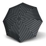 Ομπρέλα ανδρική, σπαστή, γκρι με ρίγες, αυτόματο άνοιγμα - κλείσιμο Knirps Folding Umbrella T.200 Duomatic Fashion Collection Men Justin Grey