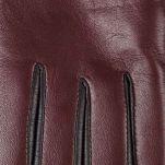 Γάντια δερμάτινα γυναικεία δίχρωμα Guy Laroche  Two - Tone Leather Gloves, λεπτομέρεια