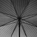 Ομπρέλα μεγάλη ανδρική αυτόματη ριγέ Ferre Stick Umbrella Stripes, λεπτομέρεια, μπανέλες