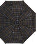 Ομπρέλα σπαστή καρώ αυτόματο άνοιγμα - κλείσιμο H.Due.O. Folding Umbrella Checks, πράσινο - μπλε