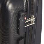 Βαλίτσα σκληρή μαύρη καμπίνας με 4 ρόδες Delsey Pilatus 4W  Black, λεπτομέρεια, κλειδαριά