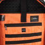Τσάντα ταξιδίου - σακίδιο πλάτης μαύρο National Geographic Hybrid 3 Way Backpack Black, εσωτερικό λεπτομέρεια.