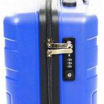 Βαλίτσα σκληρή καμπίνας μπλε με 4 ρόδες Jaguar Voyager Trolley Cabin Blue, λεπτομέρεια, κλειδαριά TSA
