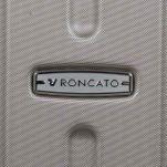 Βαλίτσα σκληρή σαμπανί με 4 ρόδες μεγάλη Roncato Kinetic Grande Champagne, λεπτομέρεια, μπροστινή όψη