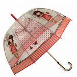 Ομπρέλα μεγάλη  διάφανη Santoro Gorjuss Time To Fly